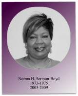 During her administrations, the 1975 and 2008 Jabberwocks occurred, financial aid workshops were held, and the 2007 Teacher Education Project began.  Soror Sermon-Boyd served as South Atlantic Regional Director from 1978-1982.
