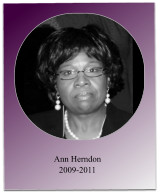 During Soror Herndon's term, the chapter hosted the 2010 NC Spring State Meeting and the 2011 Jabberwock was held.  She also oversaw the initiation of 17 new members.