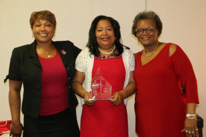 (l-r) Donna Crudup (Membership Services), Natalie Standifer (Vice President), and Linda T. Sifontes (President)